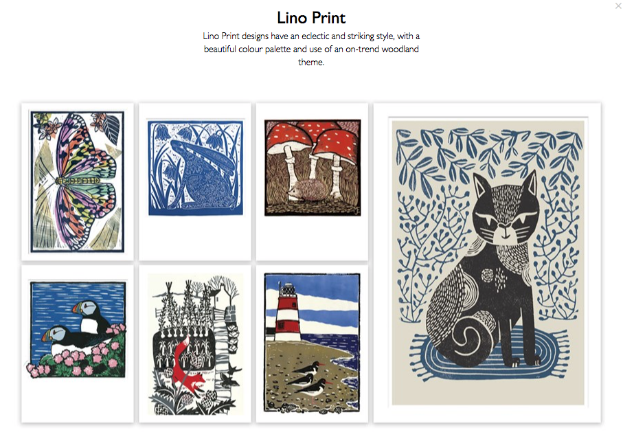 Lino Print selection from Camden Graphics